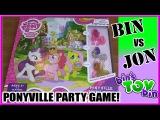 Bin Vs. Jon - My Little Pony Ponyville Party Board Game! | Bin's Toy Bin