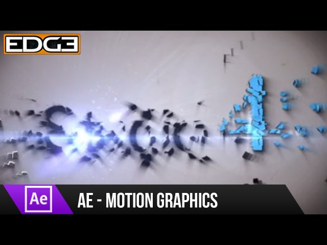 After Effects Tutorial - Shatter Motion Graphics Effect HD