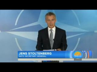 """После удара «Калибрами» Генсек НАТО Столтенберг дрожащим голосом вынес """"предупреждение"""" России – NBC News (9.10.2015)"""