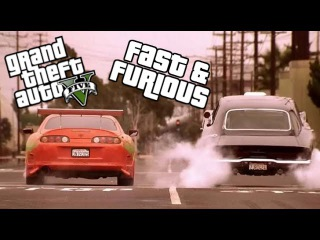 GTA 5 ONLINE - FAST & FURIOUS DRAG RACE SCENE (GTA V Remake)