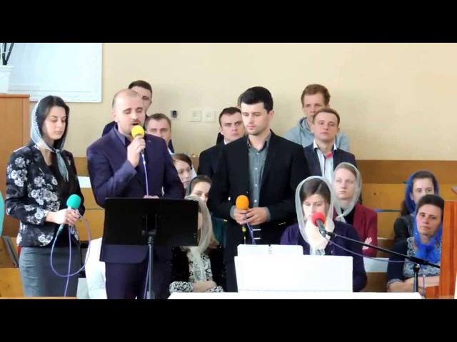 Спів хористів з 2-ого Молодіжного хору Когда нежданная беда... 03.05.15