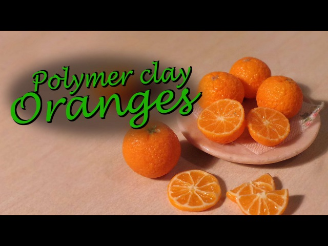 Polymer clay fruit; Orange tutorial ( Tips for making canes)