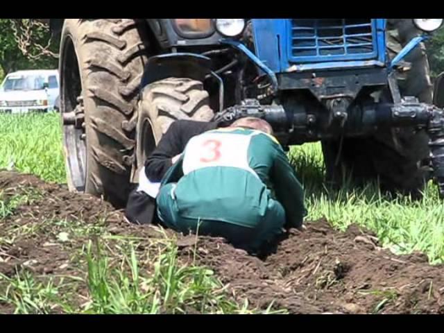 Трактористы. Конкурс в с. Чугуевка Приморского края