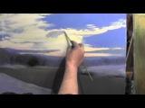 Научиться рисовать зимний пейзаж, уроки масляной живописи, художник Сахаров