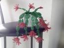 ДЕКАБРИСТ - цветок. РОЖДЕСТВЕННИК. Tutorial Schlumbergera out of beads.
