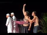 Topless activists of FEMEN disrupt Muslim conference