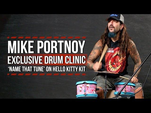Mike Portnoy Name That Tune on Hello Kitty Drum Kit
