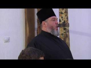 Manastir Visoki Decani, pojanje za vecerom nakon bdenija