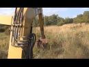 Раскопки немецкий Блиндаж трактор и металлоискатель в деле