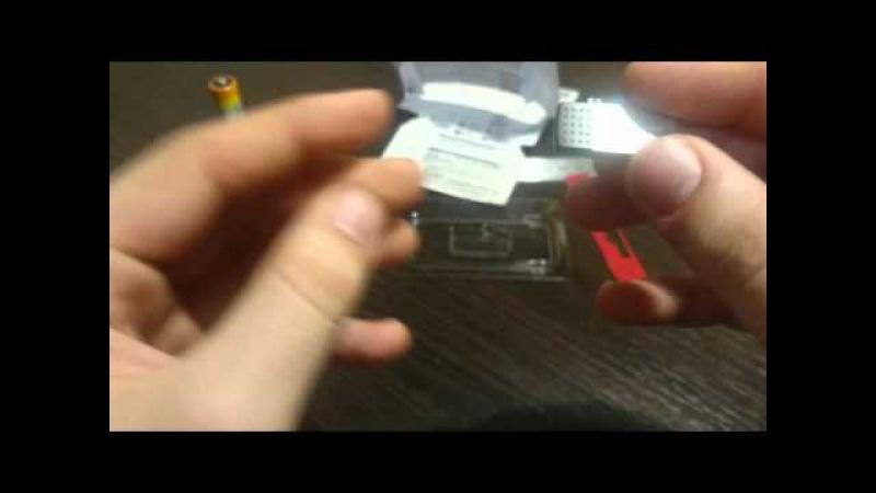 Распаковка флеш-накопителя USB Transcend 8GB JetFlash 380 Silver OTG (TS8GJF380S)