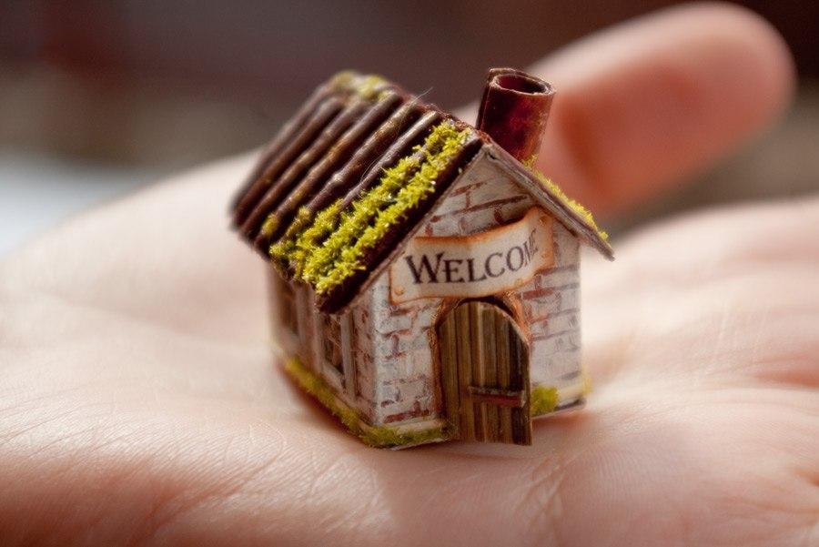 Как сделать миниатюрные домики