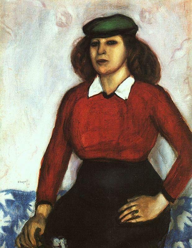 Марк Захарович (Моисе́й Ха́цкелевич) Шагал фр. Marc Chagall 1887— 1985 Анюта (Портрет сестры) 1910