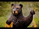 Мастер класс по резьбе бензопилой. Вырезаем медведя. ч1