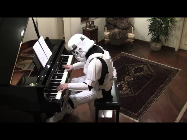 Starwars, The Imperial March on Piano ( Darth Vaders Theme )