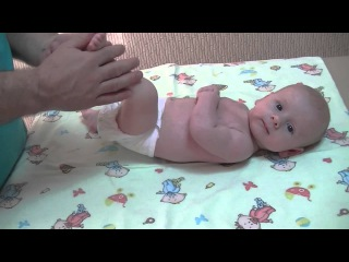 Детский массаж и лечебная гимнастика для грудных детей от 1,5 до 3 месяцев