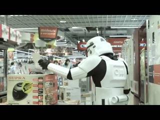 Штурмовики STAR WARS против микроволновки в «М Видео»   HD