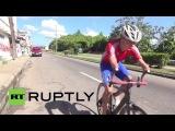 Куба: Встречайте безрукого велосипедист гонки к медали Паралимпийских.