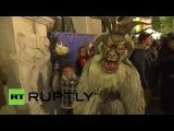 Австрия: Рогатые твари отпугнул злых духов в Зальцбурге парада.