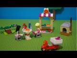 Игры для детей. LEGO. Собираем из конструктора Лего пиццерию для Стефани.
