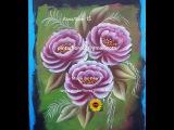 Roses One stroke.  Rosas pinceladas. Come dipingere la rosa. Peinture roses.nalerei roses.15