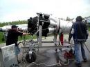 Запуск авиационного турбореактивного двигателя ВК-1