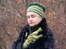 Вязаные перчатки крючком. Часть 1 Knitted gloves hook .