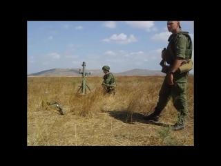 Стрельба из 82мм миномёта 2Б14-1