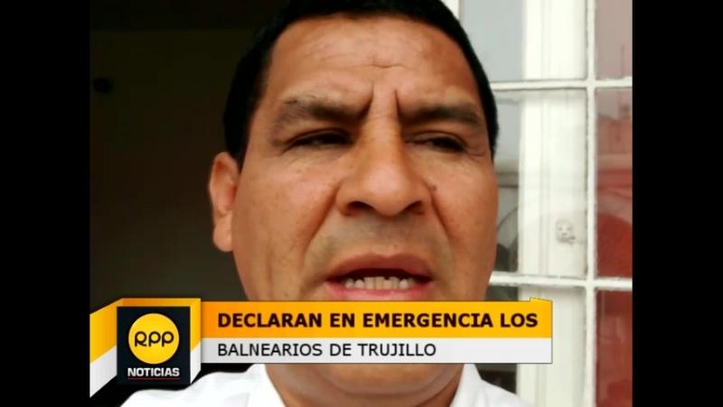 Trujillo: declaran en estado de emergencia a balnearios afectados por oleajes