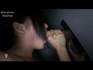 Брюнетка отсасывает кучу хуев из дырки в стене и глотает сперму GloryholeSwallow Elli First Visit Gloryhole