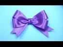 Как сделать БАНТИК ИЗ ЛЕНТЫ любого размера Satin ribbon Bow ✿ NataliDoma