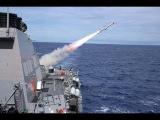 Синхронный залп Крылатыми ракетами системы калибр из Каспия по целям в Сирии! Оружие России!