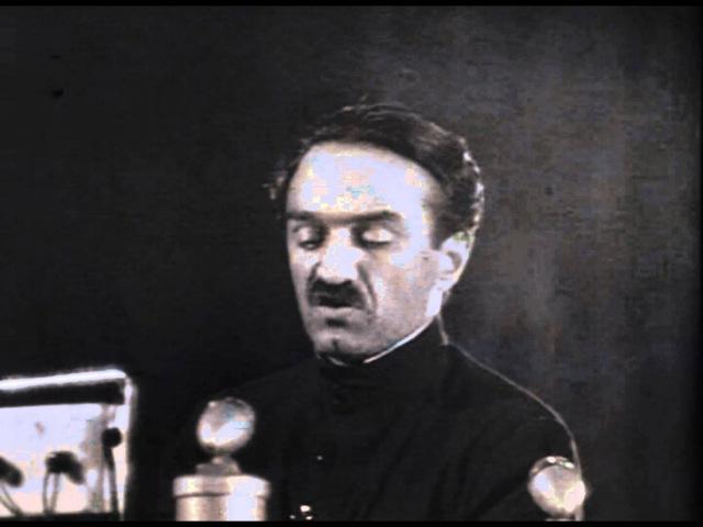 Речь А.И. Микояна о пионере Коле Щеглове в Большом театре в честь 20-летия создания ОГПУ-НКВД, 1937 год