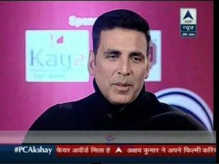 Akshay Kumar PC Exclusive on ABP News 9 Jan 2016 Part - 01