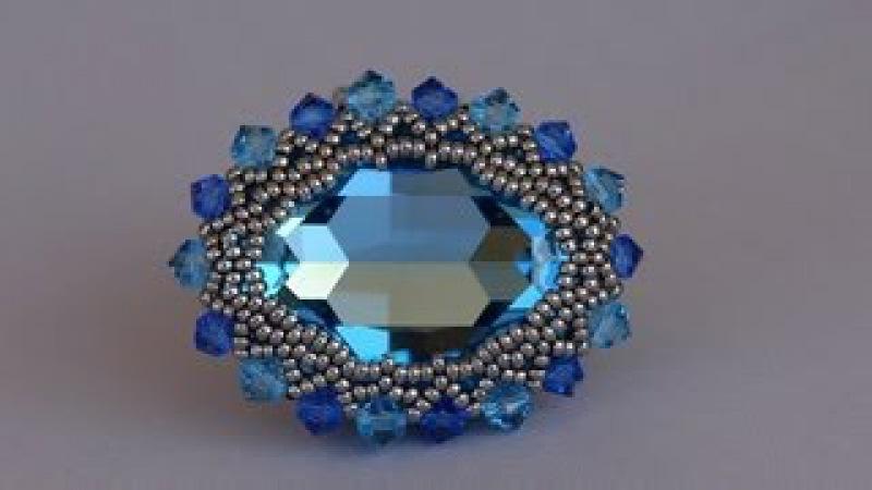 Sidonia's handmade jewelry - 30x22mm Swarovski cabochon ring