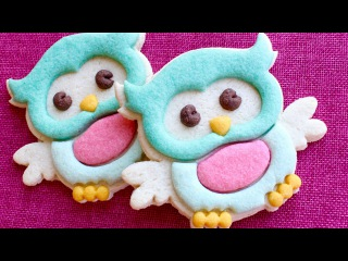 [vk.com/LakomkaVK] Печенье Cute Owl Cookies - No decorating skills required all done without icing