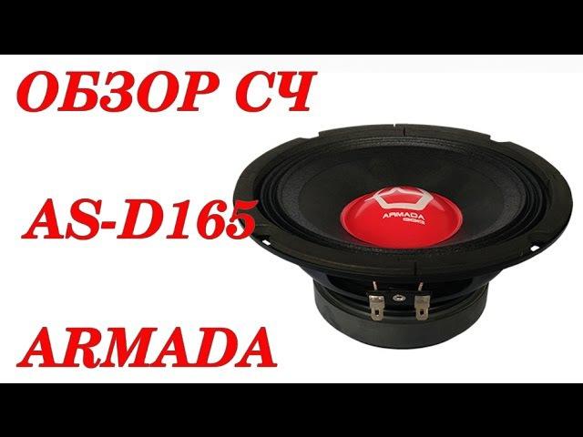 Обзор эстрадных динамиков AS-D165 ARMADA. Автозвук своими руками