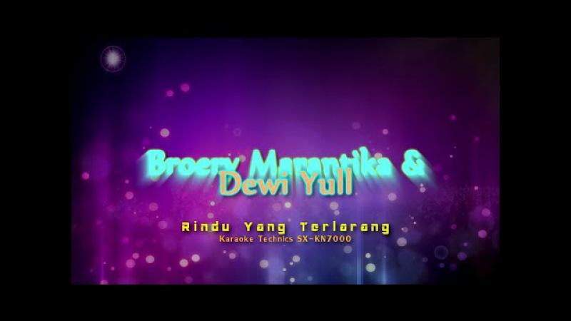 Broery Marantika Dewi Yull - Rindu Yang Terlarang (Karaoke Technics SX KN7000)
