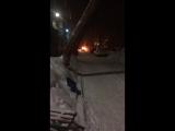 Оренбург. Карачи. Горело авто