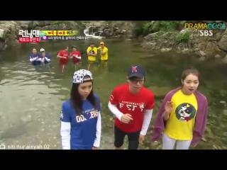 Running Man Ep.148 - Blank Ji Hyo  Yoo Hyuk having fun playing their teammates