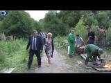 Заместитель руководителя администрации Балашихи Н.Скороход встретился с жителями квартала Акатово, где прорвало коллектор