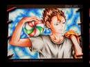 Speed Anime Drawing - Nishinoya(Haikyuu!!)