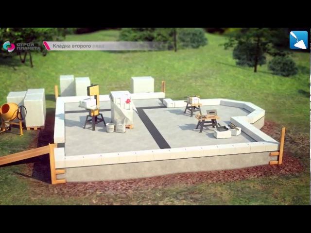 Строим коттедж из газобетона - загородный дом с нуля