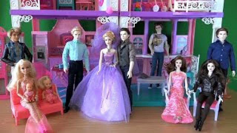 Сериал с куклами, Барби жизнь в доме мечты, Свадьба Розали и Еммета, Карлайл ведет церемонию