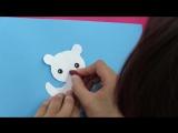 Мишка из бумаги! Простые поделки для детей!