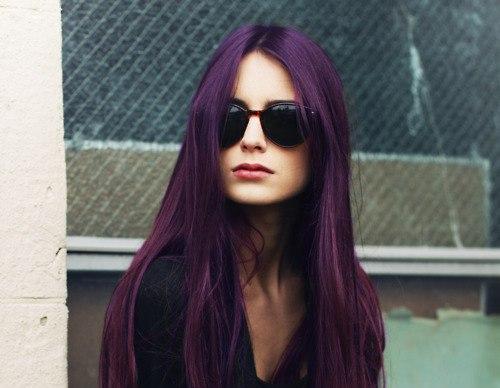 Цвет божоле на волосах