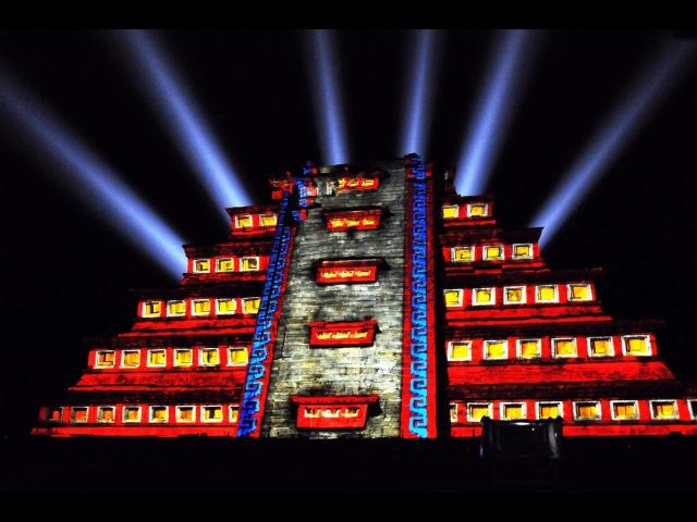 Mexico - Tajin - Archaeological Site - Night Lights event