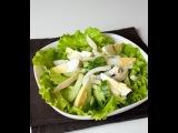 Салат из кальмаров, яиц и огурца - рецепт
