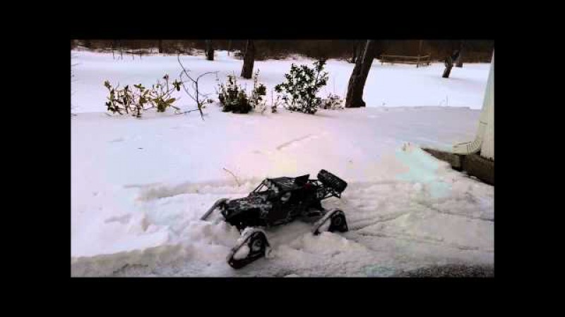 RC Snow Tracks on a Vaterra Twin Hammers