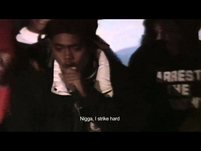 Nas Large Pro - Live at the Barbeque (Live, 1991) [subtitles]