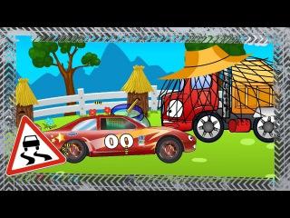 ✔ Çocuklar için arabalar / Yarış arabası — araba arkadaşlara gidiyor / Geliştirmiş çizgi filmleri ✔